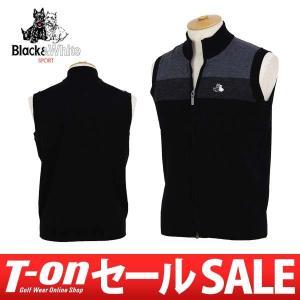 【30%OFFセール】2017 秋冬 ブラック&ホワイト Black&White ベスト ゴルフウェア メンズ|t-on