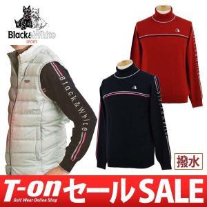 【30%OFFセール】セーター メンズ ブラック&ホワイト Black&White 2017 秋冬 ゴルフウェア|t-on