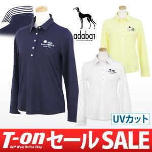 【50%OFFセール】アダバット adabat ポロシャツ 長袖 ゴルフウェア レディース|t-on