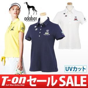 【50%OFFセール】アダバット adabat ポロシャツ 半袖 ゴルフウェア レディース|t-on