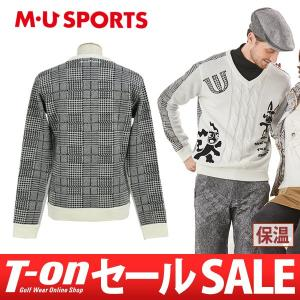 【30%OFFセール】Vネックセーター メンズ MUスポーツ MU SPORTS 2017 秋冬 ゴルフウェア t-on