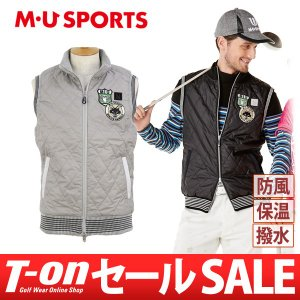 【30%OFFセール】ベスト メンズ MUスポーツ MU SPORTS 2017 秋冬 ゴルフウェア t-on