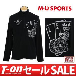 【30%OFFセール】長袖ハーフジップシャツ メンズ MUスポーツ MU SPORTS 2017 秋冬 ファッションウェア t-on