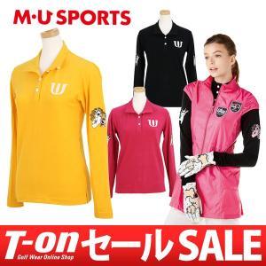 長袖ポロシャツ レディース MUスポーツ MU SPORTS 2017 秋冬 ゴルフウェア t-on