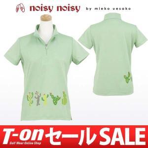 【50%OFFセール】ミエコ ウエサコ NOISY NOISY MIEKO UESAKO 半袖ハイネックシャツ ゴルフウェア レディース t-on
