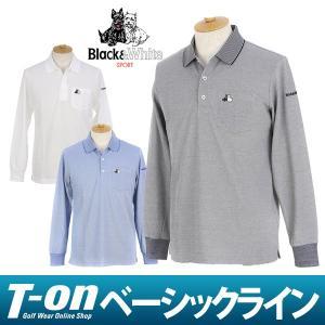 2017 秋冬 ブラック&ホワイト Black&White ポロシャツ ゴルフウェア メンズ|t-on