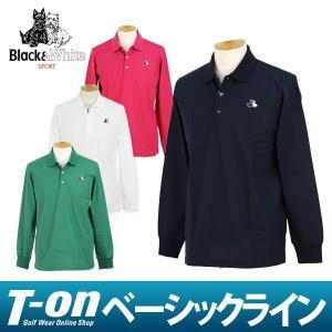 ポロシャツ メンズ ブラック&ホワイト Black&White 2017 秋冬 ゴルフウェア|t-on
