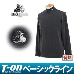 長袖ハイネックシャツ メンズ ブラック&ホワイト Black&White 2017 秋冬 新作 ゴルフウェア|t-on