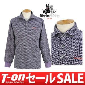 【30%OFFセール】ポロシャツ メンズ ブラック&ホワイト Black&White 2017 秋冬 ゴルフウェア|t-on