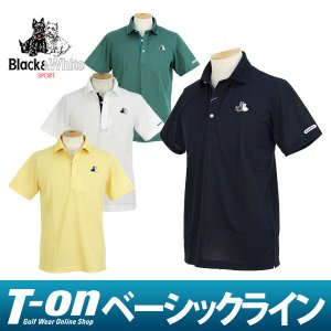 半袖ポロシャツ メンズ ブラック&ホワイト Black&White  2017 秋冬 ゴルフウェア|t-on