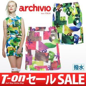 【30%OFFセール】アルチビオ archivio 後ボックスプリーツスカート ゴルフウェア レディース t-on