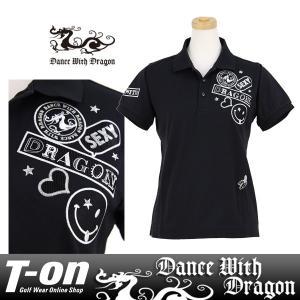 ポロシャツ レディース ダンス ウィズ ドラゴン DANCE WITH DRAGON 2017 秋冬 ゴルフウェア|t-on