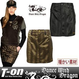 スカート レディース ダンス ウィズ ドラゴン DANCE WITH DRAGON 2017 秋冬 ゴルフウェア|t-on