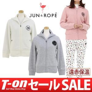 ニットブルゾン レディース ジュン&ロペ JUN&ROPE2017 秋冬 新作 ゴルフウェア|t-on