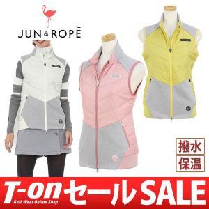 中綿入りベスト レディース ジュン&ロペ JUN&ROPE 2017 秋冬 ゴルフウェア|t-on
