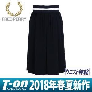 ワイドパンツ  レディース フレッドペリー FRED PERRY 日本正規品 2018 春夏 ゴルフウェア|t-on