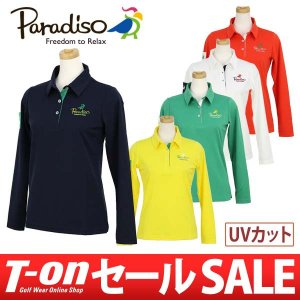 【30%OFFセール】ポロシャツ レディース パラディーゾ PARADISO 2017 秋冬 ゴルフウェア|t-on