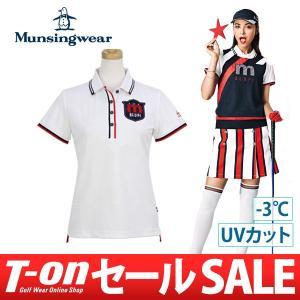 ポロシャツ レディース マンシングウェア Munsingwear 2018 春夏 ゴルフウェア...