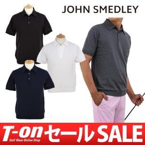 ジョンスメドレー 日本正規品 JOHN SMEDLEY 半袖ニットポロシャツ ゴルフウェア メンズ|t-on