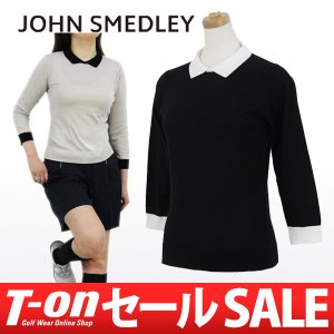 ジョンスメドレー 日本正規品 JOHN SMEDLEY 7分袖ニットポロシャツ ゴルフウェア レディース|t-on