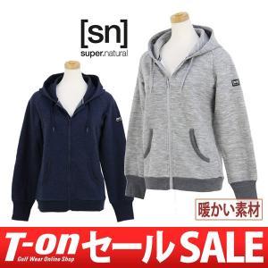 パーカー レディース スーパーナチュラル super.natural 日本正規品 2017 秋冬 ゴルフウェア|t-on