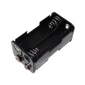 ■ 黒色プラスチックタイプ ■単3型電池4本直列用 ■背中あわせに電池が並びます。 ■電池スナップ用...