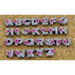 ピンク★(星)付き アルファベット|t-parts