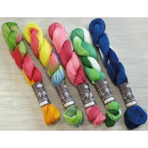 ## ご注文数1個で5種各1カセ計5カセです。##  ◯材質:綿100%  ◯長さ/重さ:1かせ約...
