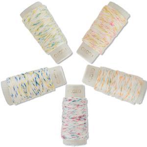 # ご注文数1個で1シリーズ5色各1個です。#  ◯材質:綿100%  ◯長さ/重さ:1かせ約30m...
