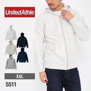 パーカー メンズ 無地 スウェットフルジップパーカー 12.0oz 厚手 無地 裏起毛 大きいサイズ United Athle(ユナイテッドアスレ) 5511|t-shirtst