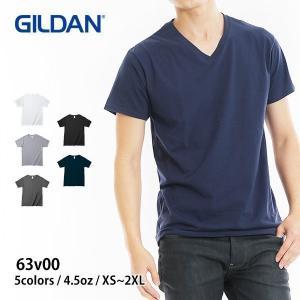 Tシャツ メンズ 半袖 無地 Vネック 白 黒 など GILDAN(ギルダン) 4.5オンス アダル...