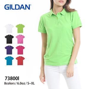 ポロシャツ 半袖 レディース 無地 GILDAN(ギルダン) 6.0オンス レディースダブルピケ ポロシャツ 73800l|t-shirtst