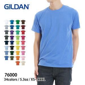 Tシャツ メンズ 半袖 無地 青 ネイビー など GILDAN(ギルダン) 5.3オンス アダルト Tシャツ 76000|t-shirtst