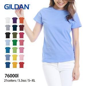 Tシャツ レディース 半袖 無地 白 黒 など GILDAN...
