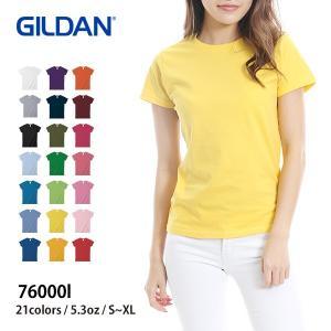 Tシャツ レディース 半袖 無地 青 赤 など GILDAN(ギルダン) 5.3オンス レディースT...