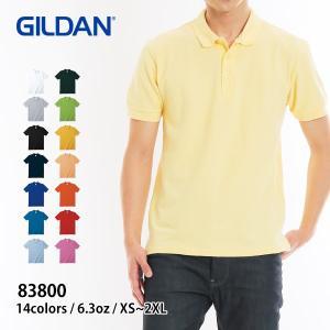 ポロシャツ メンズ 半袖 無地 GILDAN(ギルダン) 6.3オンス アダルト ダブルピケ ポロシャツ 83800|t-shirtst