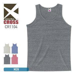 タンクトップ 無地 ビンテージ メンズ 杢 霜降り CROSS(クロス) cr1104|t-shirtst