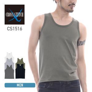 タンクトップ メンズ 無地 インナー CROSS STITCH(クロスステッチ) CS1516|t-shirtst