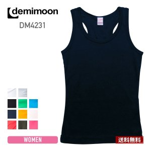 レディース無地マッスルタンクトップ demimoon(デミムーン) DE4231|t-shirtst