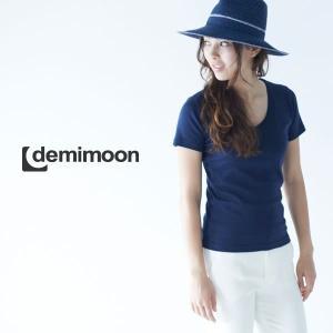 レディース無地半袖VネックTシャツ demimoon(デミムーン) DE4315|t-shirtst