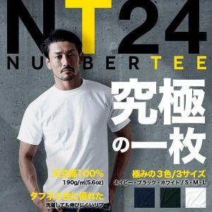 Tシャツ メンズ 無地 半袖 ホワイト(白)・ブラック(黒)・ネイビー NUMBER TEE(ナンバーティー) nt24
