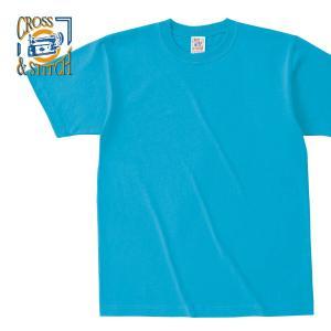 Tシャツ キッズ 半袖 無地 厚手 青 紺 など CROSS STITCH(クロスステッチ) 6.2オンス マックスウェイトTシャツ oe1116|t-shirtst
