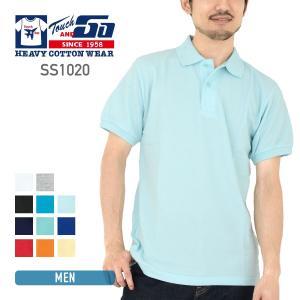 ポロシャツ 半袖 メンズ 無地 Touch&GO(タッチアンドゴー) 6.0オンス ポロシャツ ss1020 t-shirtst