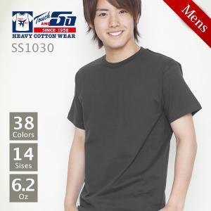 無地 厚手Tシャツ ホワイト・レッド・イエロー・グレー Touch&GO(タッチアンドゴー) SS1030 Jr-S-2XL