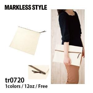 トートバッグ 無地 キャンバスクラッチバッグ  MARKLESS STYLE(マークレススタイル) tr0720|t-shirtst