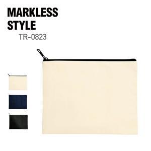 MARKLESS STYLE(マークレススタイル)|キャンバスフラットポーチ(M) tr0823