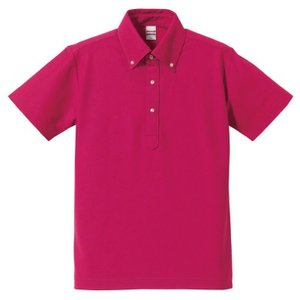ドライポロシャツ無地 ボタンダウン 吸水速乾 (ポケットなし) ユニセックス ユナイテッドアスレ 5052-01 t-shirtstore