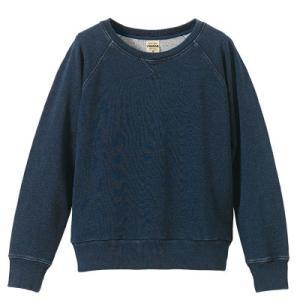 〔ガールズ〕12.2oz クルーネック デニムスウェット(パイル)【rucca】1359-04 t-shirtstore