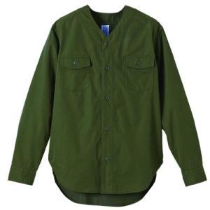 N/Cノーカラー ファティーグ ロングスリーブシャツ1430-01 t-shirtstore