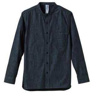 シャンブレー バンドカラー ロングスリーブシャツ1433-01 t-shirtstore